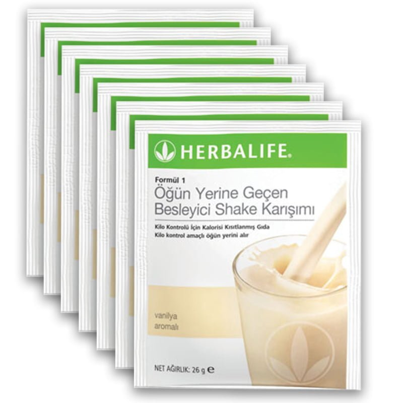 formül 1 besleyici shake karışımı 7 paket vanilyalı